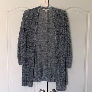 16w Sejour Cotton knit sweater, open front